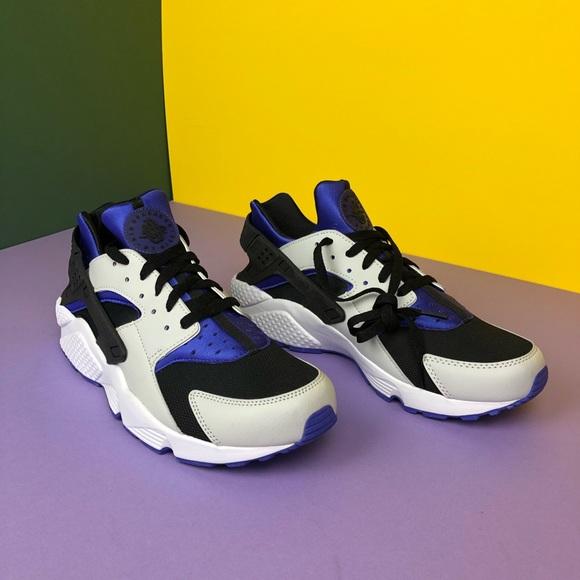 Prego Nove Convergere  Nike Shoes | Black And Blue Nike Huarache Mens Size 1 | Poshmark